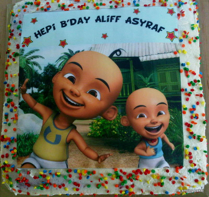 upin ipin cake september 22 2010 in birthday tags edible image upin ...