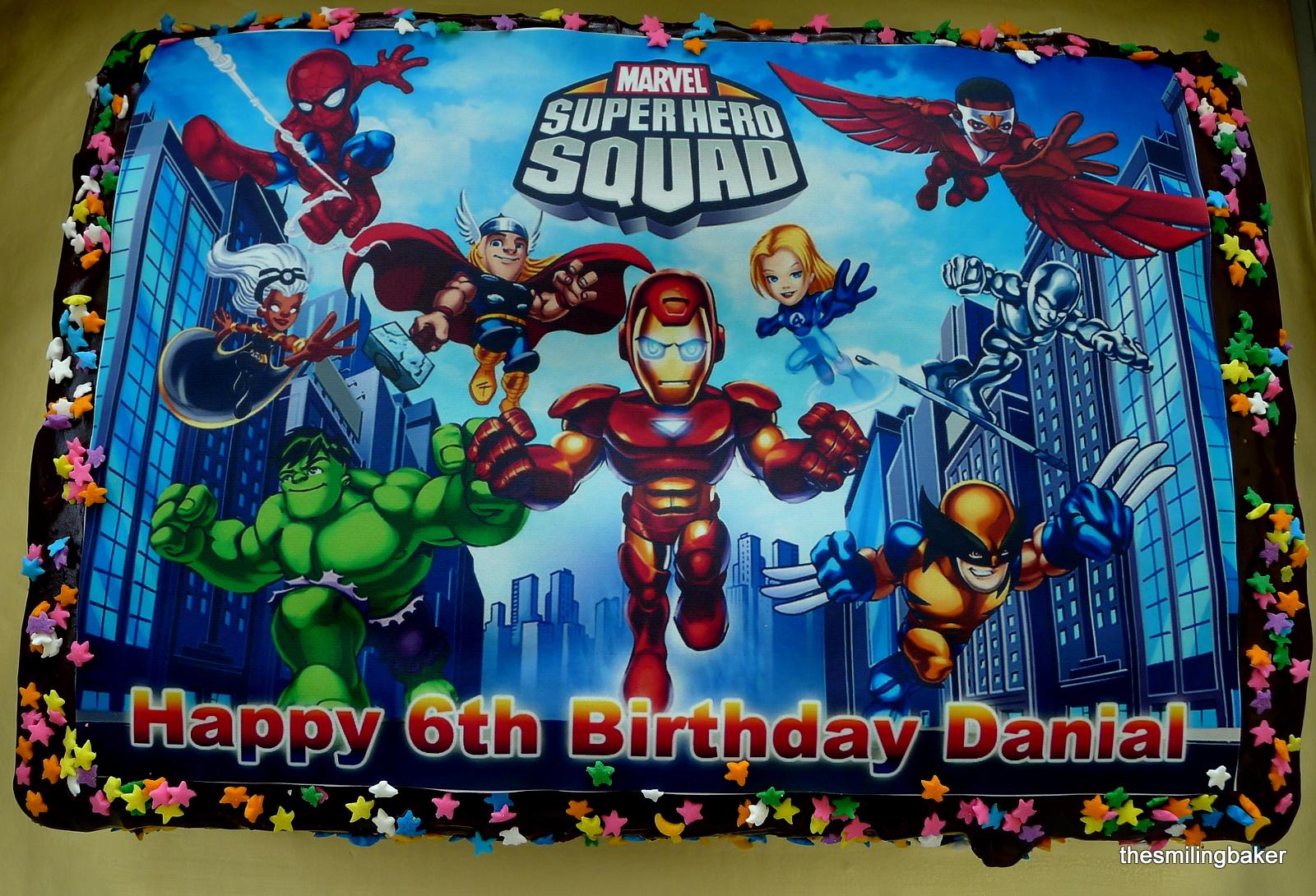 Edible Image Superheroes Squad