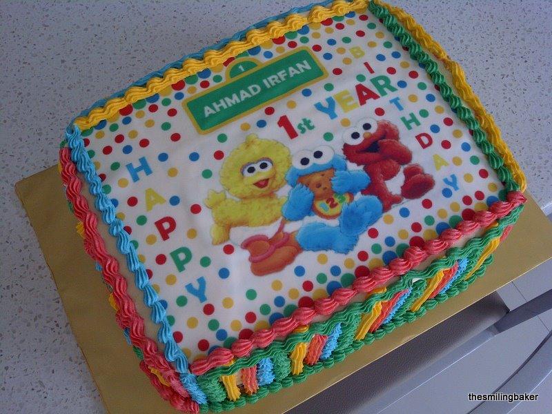 Awe Inspiring Irfans 1St Birthday Sesame Street Cake Personalised Birthday Cards Sponlily Jamesorg