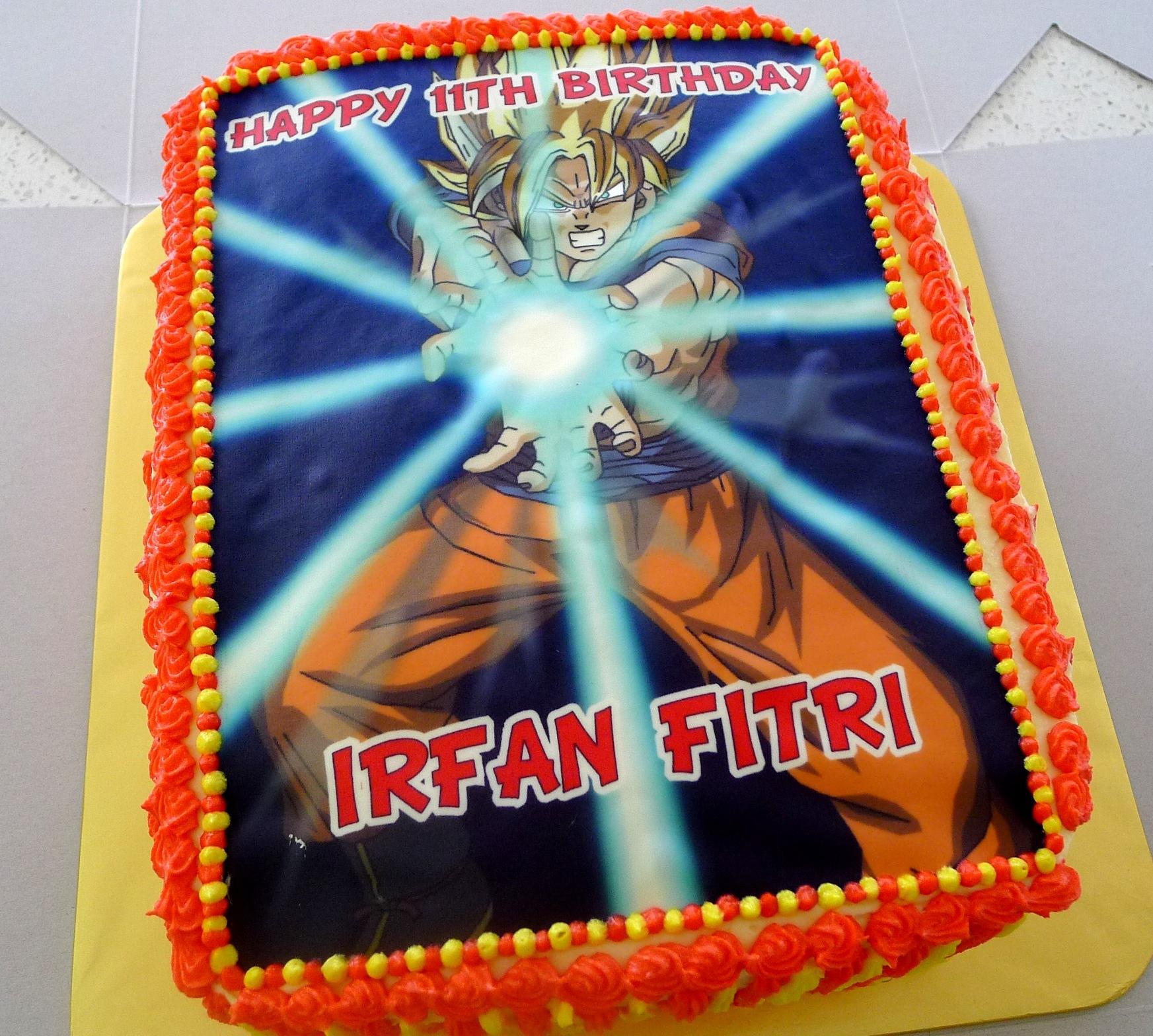 Birthday Cake Goku (dragon ball z)