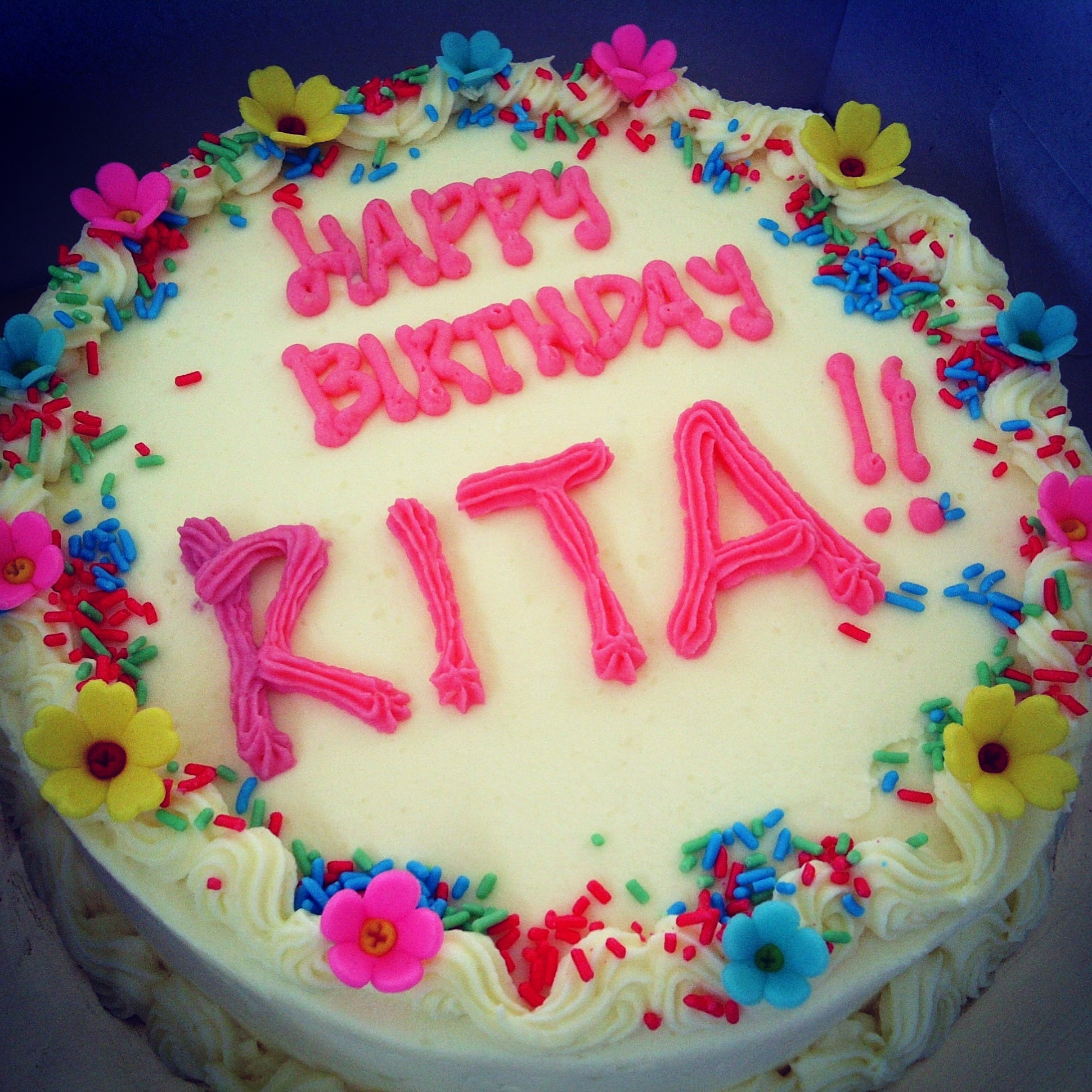 Happy Birthday Cake With Name Rita